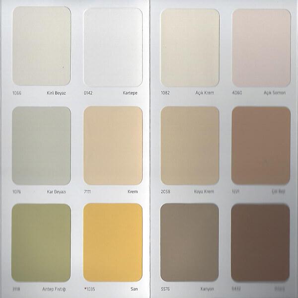 Dyo Dış Cephe Renk Kartelası