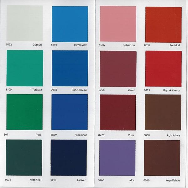 Dyo Yağlı Boya Renk Kartelası