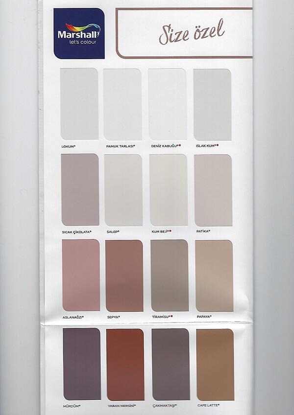 Marshall Ic Cephe Boya Renkleri Ve Kartelasi Incir Dekor