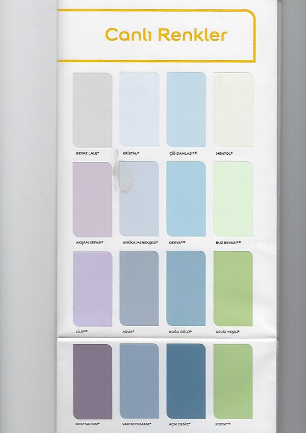 marshall iç cephe boya renkleri