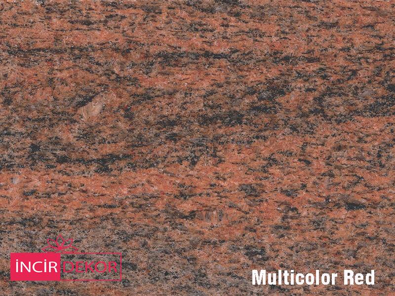 Granit Tezgah Renkleri Multicolor Red