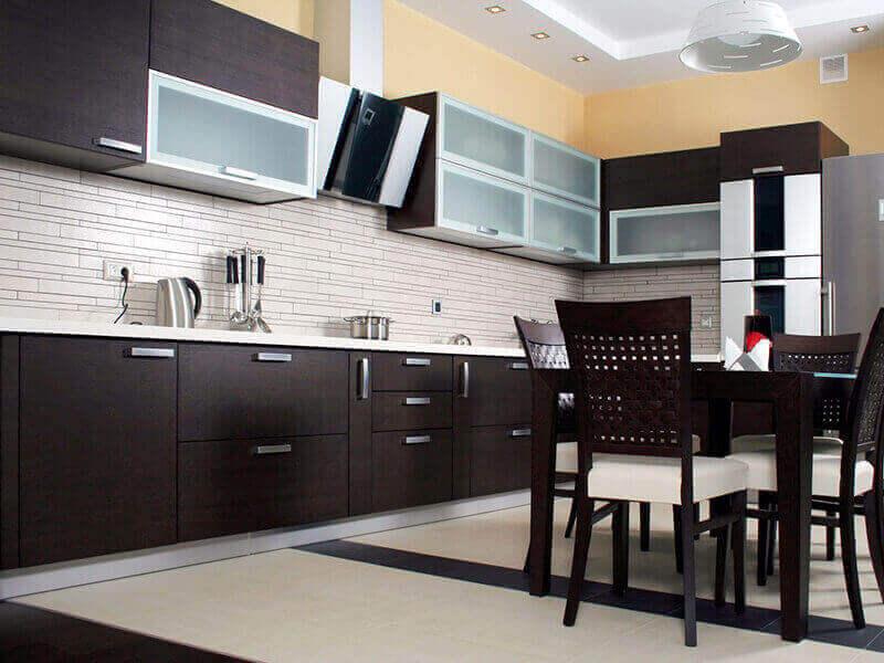 Akrilik L Mutfak Dolabı Modelleri