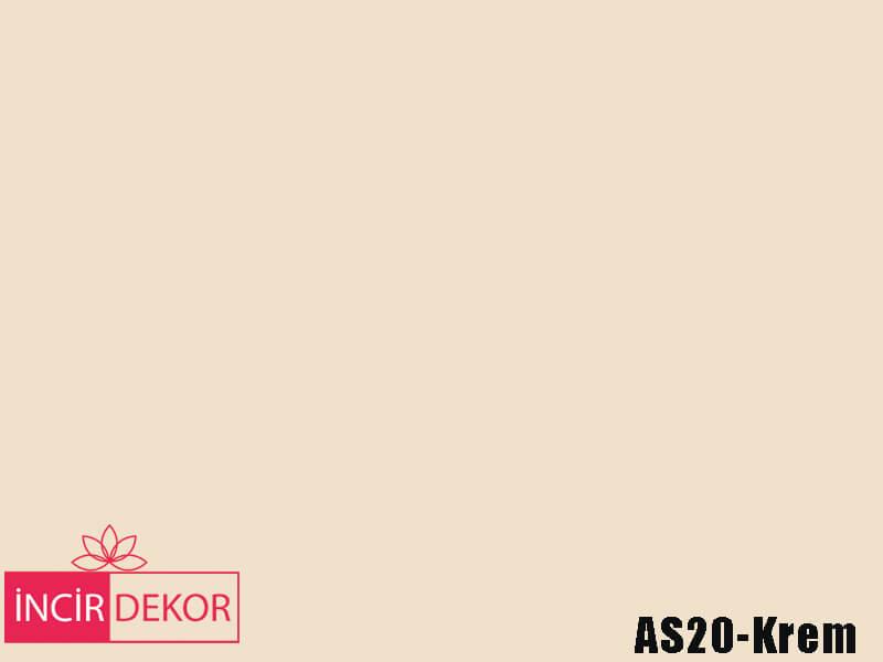 Akrilik Mutfak Dolabı Rengi - Gizir Çizilmez AS20 Krem