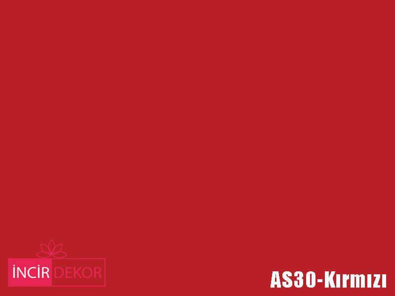 Akrilik Mutfak Dolabı Rengi - Gizir Çizilmez AS30 Kırmızı