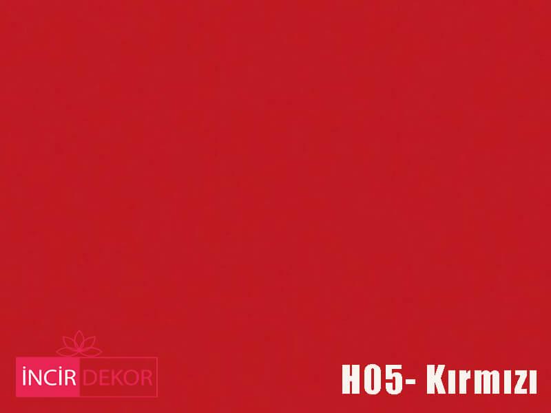 Akrilik Mutfak Dolabı Rengi - Işık Çizilmez H05 Kırmızı