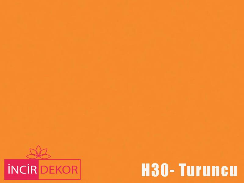 Akrilik Mutfak Dolabı Rengi - Işık Çizilmez H30 Turuncu