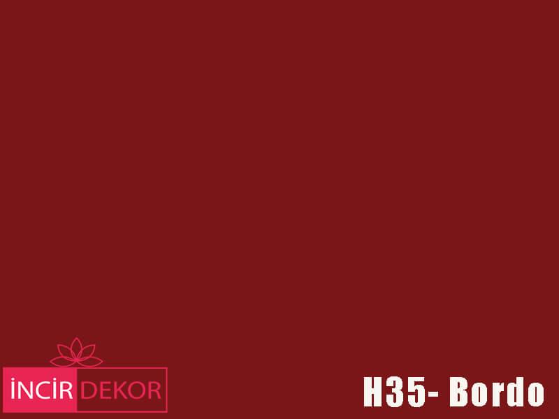Akrilik Mutfak Dolabı Rengi - Işık Çizilmez H35 Bordo