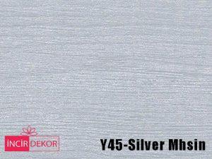 Akrilik Mutfak Dolabı Rengi - Işık Çizilmez Y45 Silver Mhsin