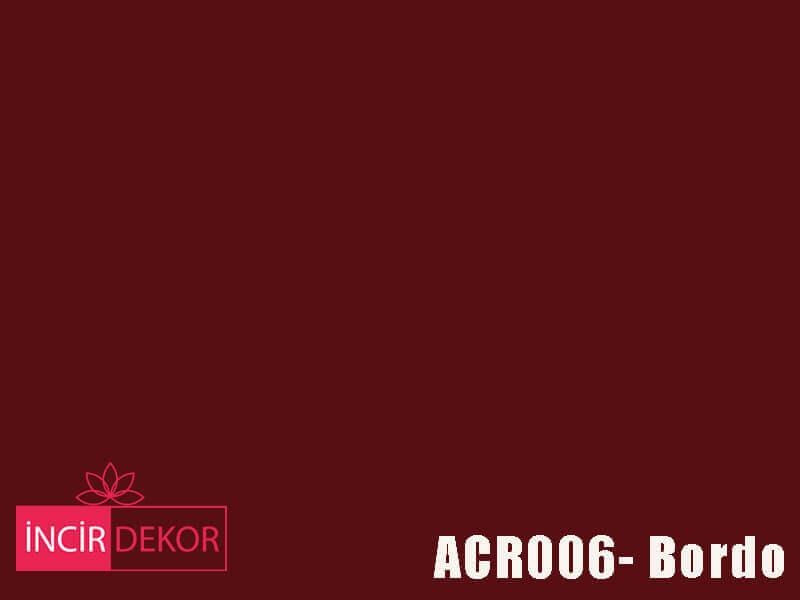 Akrilik Mutfak Dolabı Rengi - Kastamonu Entegre ACR006 Bordo
