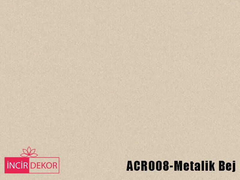 Akrilik Mutfak Dolabı Rengi - Kastamonu Entegre ACR008 Metalik Bej