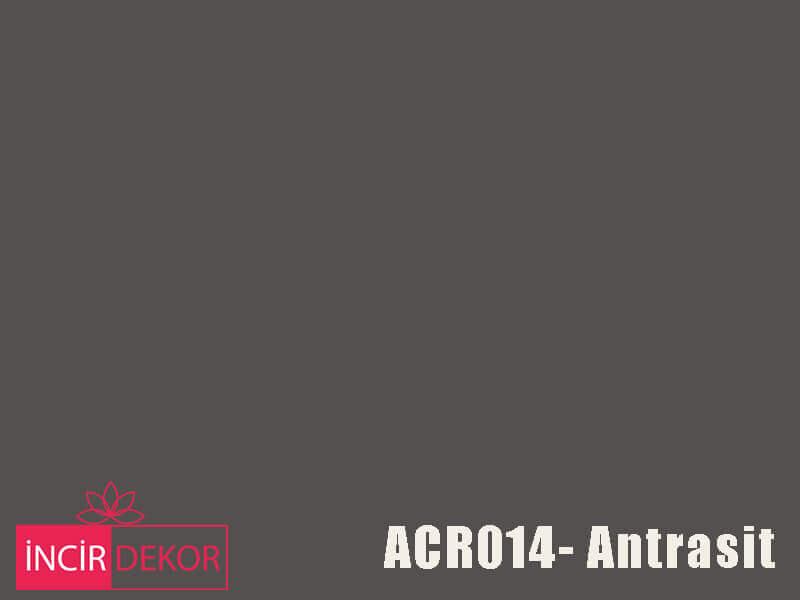Akrilik Mutfak Dolabı Rengi - Kastamonu Entegre ACR014 Antrasit