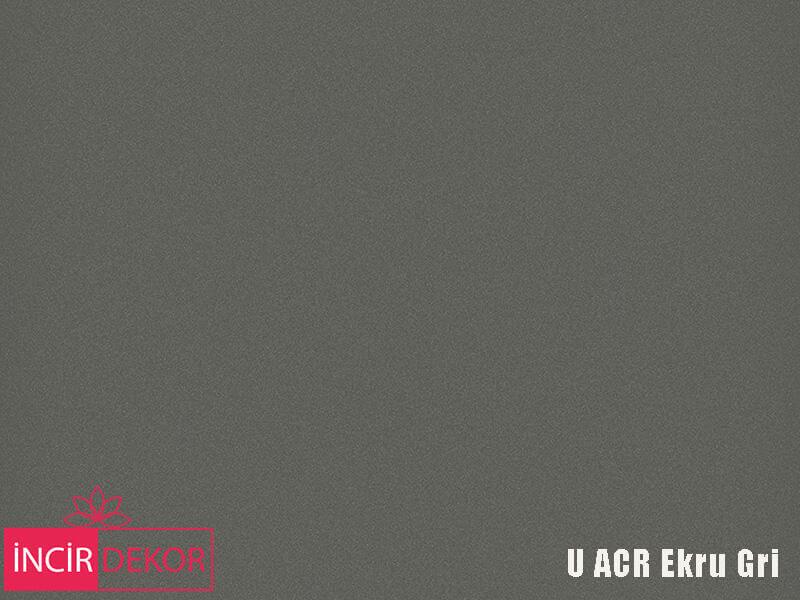 Akrilik Mutfak Dolabı Rengi - Yıldız Entegre Ultra U ACR Ekru Gri