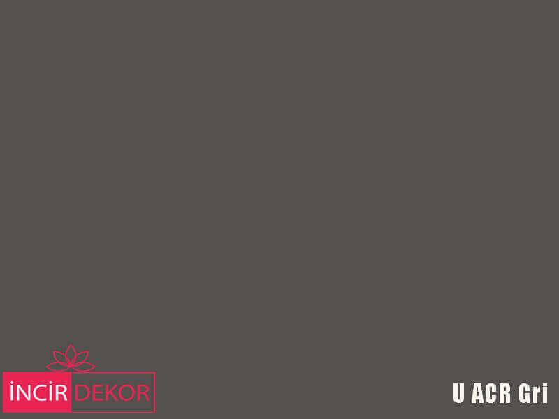 Akrilik Mutfak Dolabı Rengi - Yıldız Entegre Ultra U ACR Gri