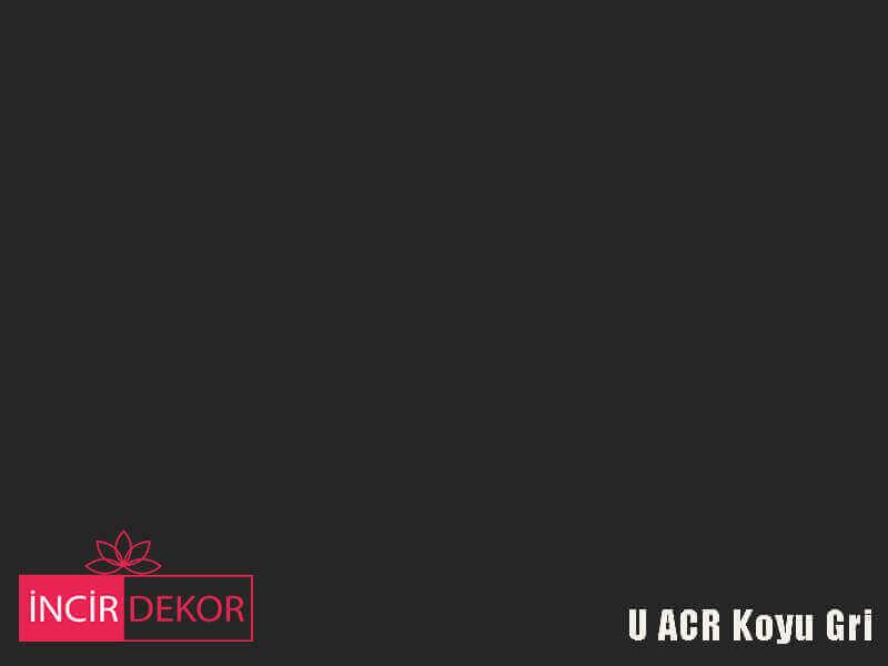 Akrilik Mutfak Dolabı Rengi - Yıldız Entegre Ultra U ACR Koyu Gri