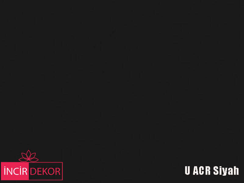 Akrilik Mutfak Dolabı Rengi - Yıldız Entegre Ultra U ACR Siyah