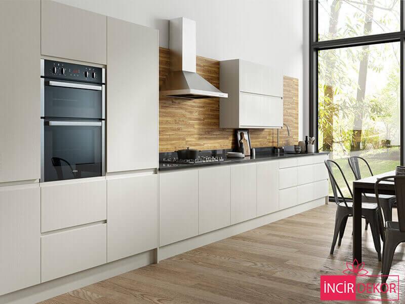 Akrilik Beyaz Mutfak Dolabı Modeli 2