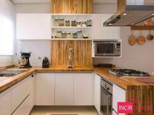 Akrilik Beyaz Mutfak Dolabı Modeli 3
