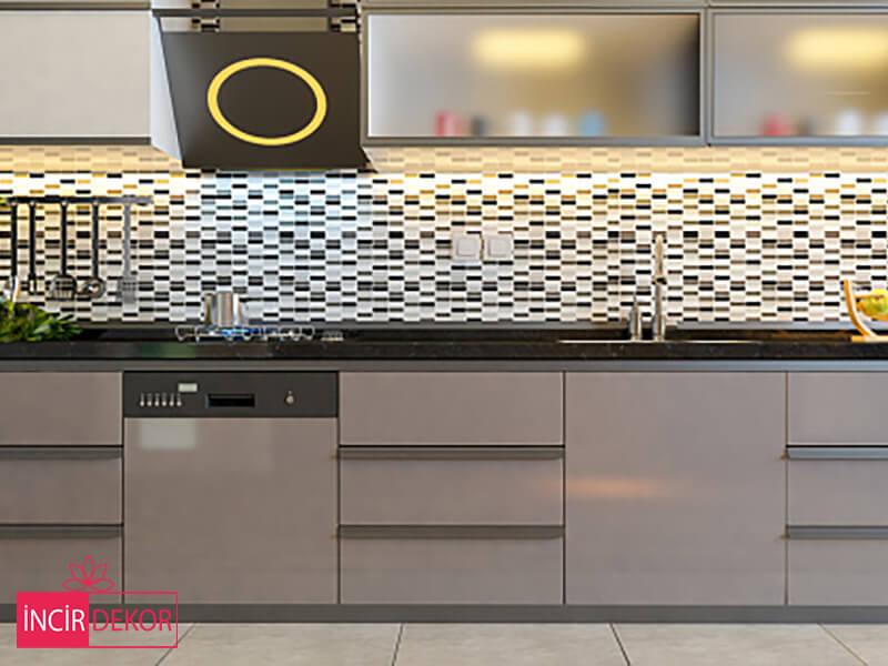 Akrilik Cappucino Mutfak Dolabı Modeli 2