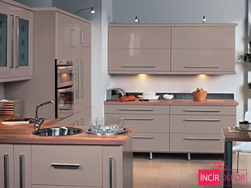 Akrilik Cappucino Mutfak Dolabı Modeli 4