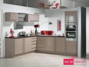 Akrilik Cappucino Mutfak Dolabı Modeli 6
