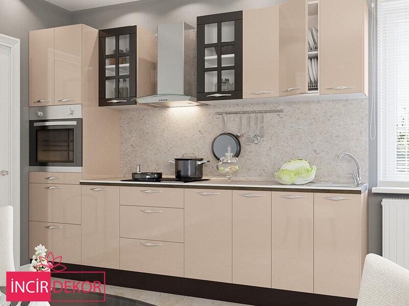 Akrilik Krem Mutfak Dolabı Modeli 5