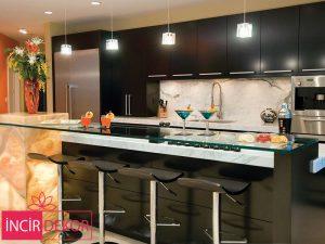 Akrilik Siyah Mutfak Dolabı Modeli 4